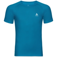 Shirt s/s crew neck SPECIAL CUBIC ST, blue jewel, large