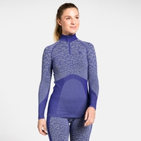 Women's BLACKCOMB 1/2 Zip Turtle-Neck Long-Sleeve Base Layer Top, clematis blue - tradewinds - clematis blue, large