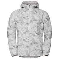 Men's FLI 2.5L Waterproof Jacket, odlo silver grey - paper print, large