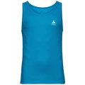 BL TOP Crew neck Singlet SPECIAL CUBIC ST, blue jewel, large