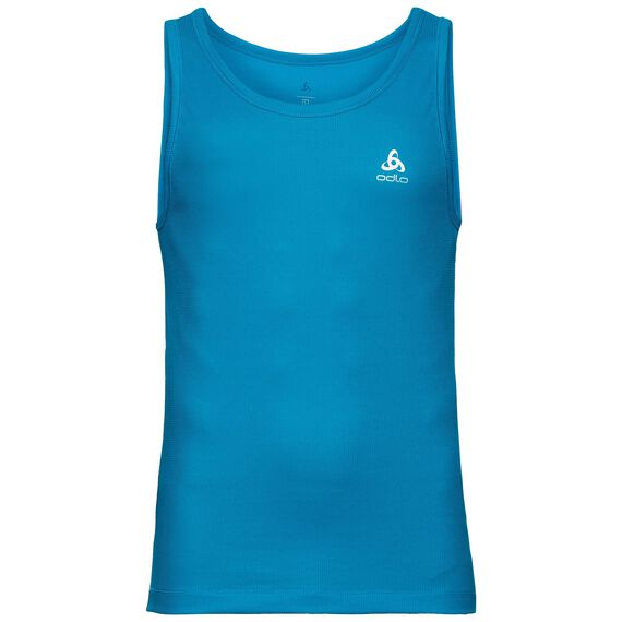 SUW TOP Crew neck Singlet SPECIAL CUBIC ST, blue jewel, large
