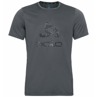 Men's ELEMENT Light PRINT T-Shirt, odlo graphite grey - placed print FW19, large