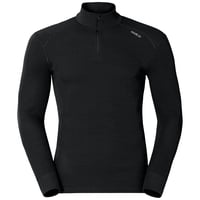 Shirt l/s turtle neck 1/2 zip ACTIVE ORIGINALS Warm, black, large
