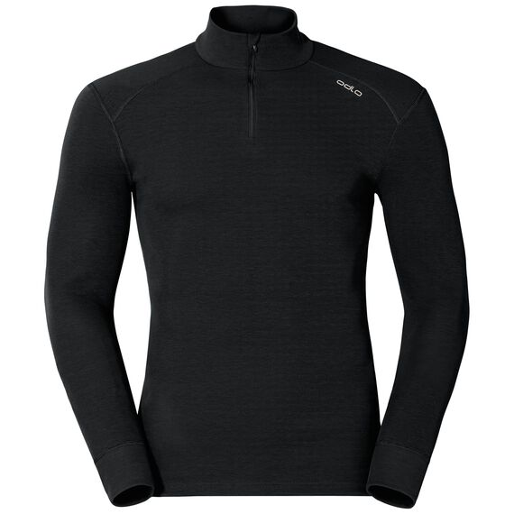 Shirt l/s turtle neck 1/2 zip ACTIVE ORIGINALS Warm, black, large