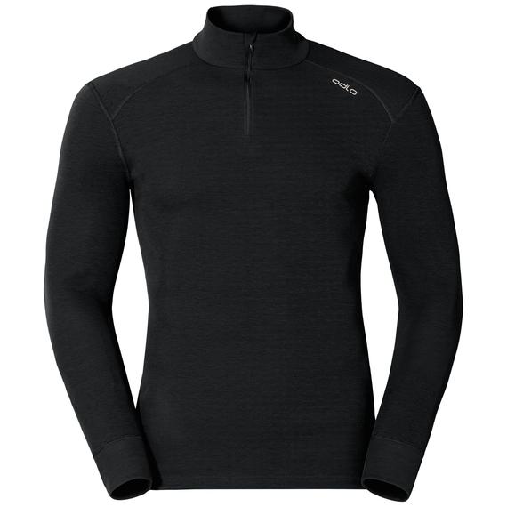 Active Originals Warm langärmeliges Shirt mit halblangem Reißverschluss und Rollkragen, black, large