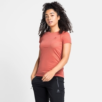 T-shirt technique KINSHIP LIGHT pour femme, burnt sienna melange, large