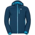 Jacket insulated FLOW COCOON ZW WATERPROOF, poseidon, large