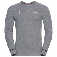 BL TOP Crew neck l/s ACTIVE WARM ORIGINALS FAN, grey melange, large