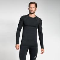 Men's ACTIVE SPINE LIGHT Long Sleeve Base Layer Top, black, large