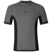 T-shirt baselayer CeramiCool pro homme, odlo steel grey - black, large