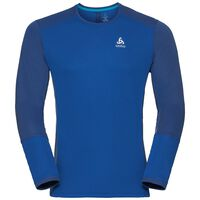 BL TOP Crew neck l/s NIKKO ACTIVE, energy blue - diving navy, large
