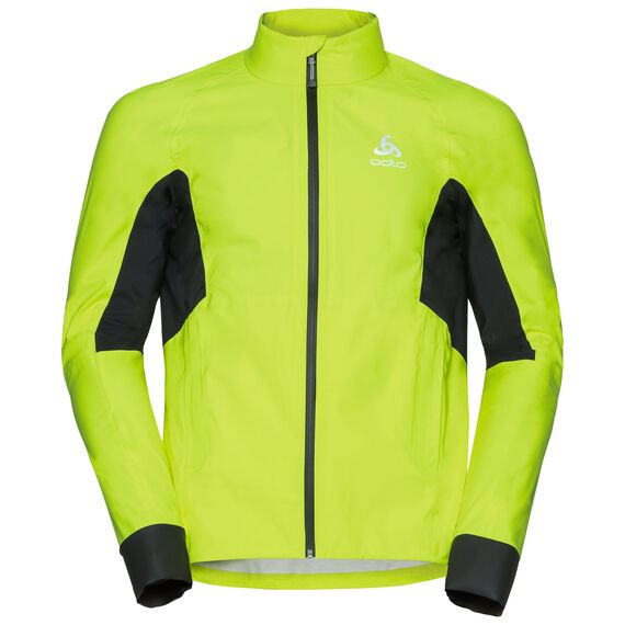 Jacket MORZINE RAIN, safety yellow - black, large