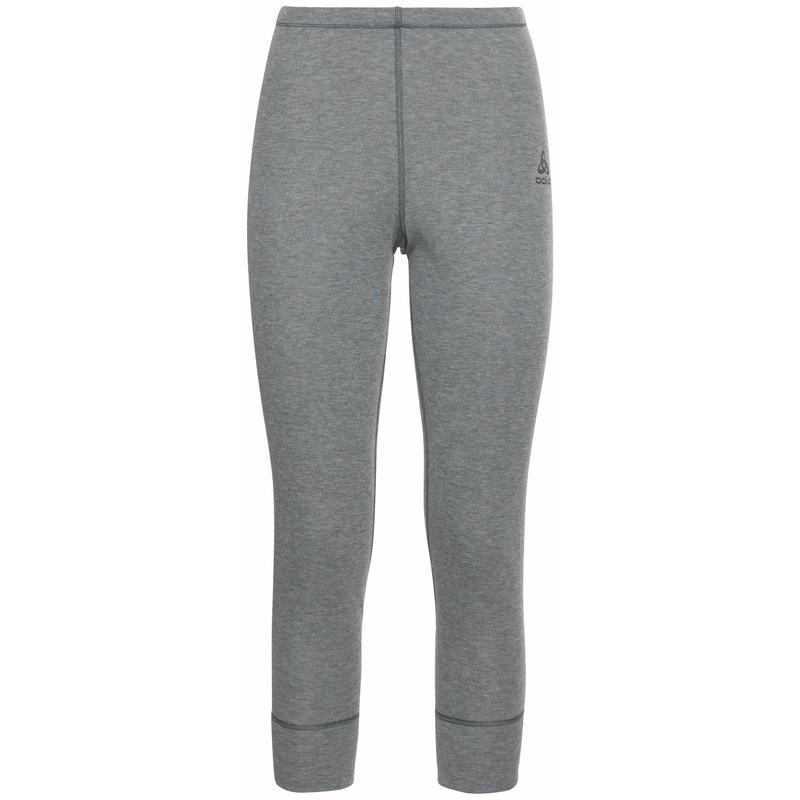 Women's ACTIVE WARM ECO 3/4 Base Layer Pants, odlo steel grey melange, large