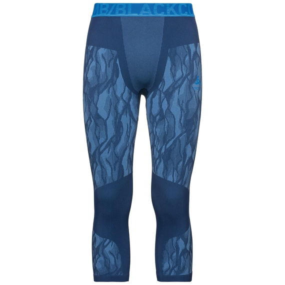 Men's BLACKCOMB 3/4 Base Layer Pants, estate blue - directoire blue - directoire blue, large