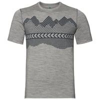 T-shirt ALLIANCE KINSHIP pour homme, grey melange - placed print FW18, large