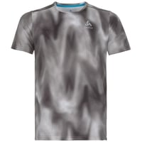 MILLENNIUM ELEMENT PRINT-T-shirt voor heren, odlo concrete grey - black - AOP FW18, large