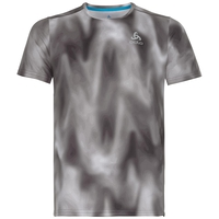 T-shirt imprimé MILLENIUM ELEMENT pour homme, odlo concrete grey - black - AOP FW18, large
