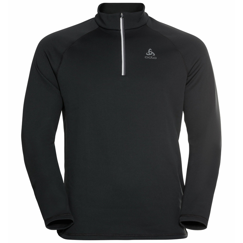 The Besso long sleeve mid layer half zip, black, large