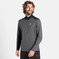 Men's STEEZE 1/2 Zip Midlayer, odlo graphite grey - black, large