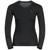 Women's ACTIVE F-DRY LIGHT ECO Long-Sleeved Base Layer Top, black, large