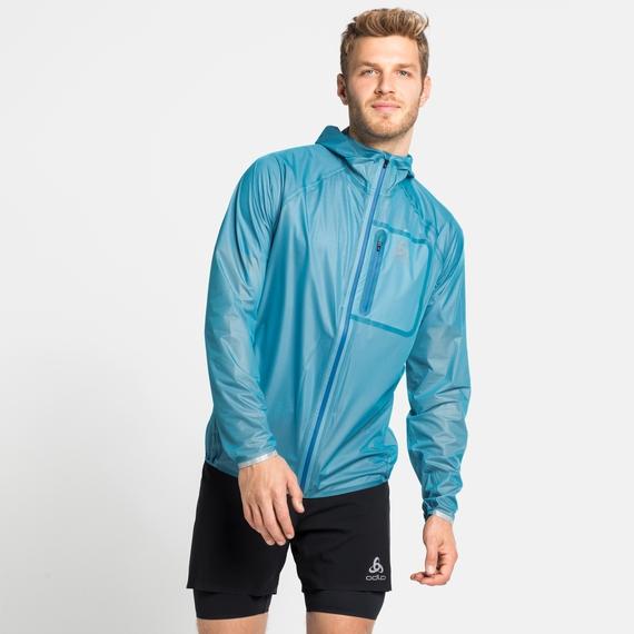 Waterdichte ZEROWEIGHT DUAL DRY-jas voor heren, horizon blue, large