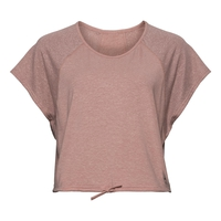 Women's LOU LINENCOOL Cropped T-Shirt, woodrose melange, large