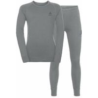 Ensemble de sous-vêtements techniques NATURAL 100% MERINO  WARM pour enfant, grey melange - grey melange, large