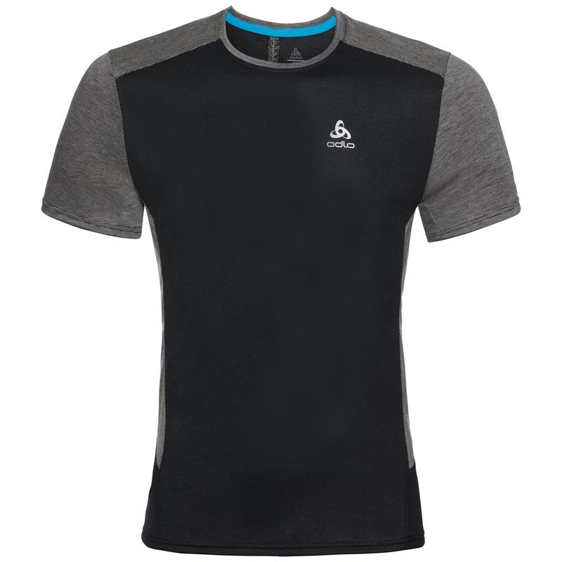 BL TOP Shirt met ronde hals s/s NIKKO ACTIVE, black - silver, large