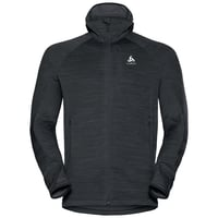Hoody midlayer full zip STEAM, black melange, large