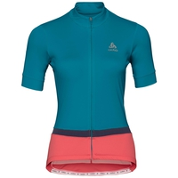 FUJIN cycling jersey women, crystal teal - dubarry, large
