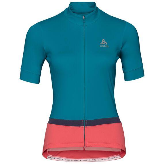 FUJIN cycling jersey women, crystal teal - dubarry, large