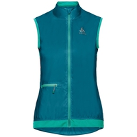 Gilet da ciclismo ZEROWEIGHT da donna, crystal teal - pool green, large