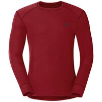 Active Originals Warm langärmeliges Shirt mit Rundhalsausschnitt, red dahlia, large