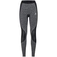 Women's BLACKCOMB Base Layer Pants, black - odlo steel grey - silver, large