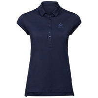 Polo manica corta Ceramiwool, diving navy, large