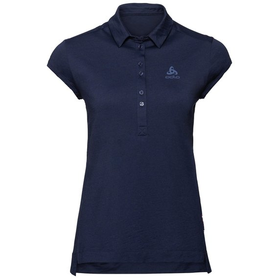 CERAMIWOOL Poloshirt, diving navy, large