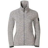 Midlayer full zip LUCMA X, grey melange, large