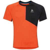Shirt met opstaande kraag s/s en 1/2 rits MORZINE ELEMENT, flame - black, large