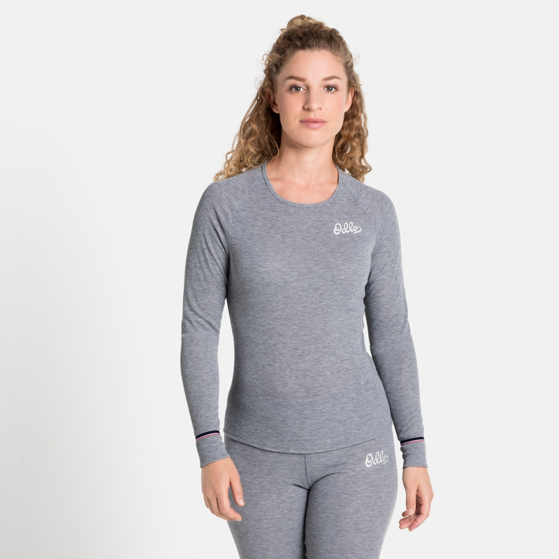 Damen ACTIVE WARM ORIGINALS ECO Base Layer Top, grey melange, large