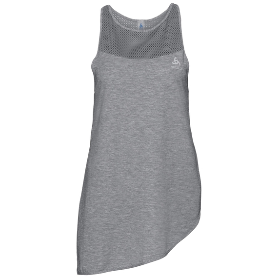 BL TOP Crew neck Singlet MAIA, grey melange, large