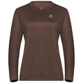 T-shirt l/s crew neck AMBER LO, chestnut, large