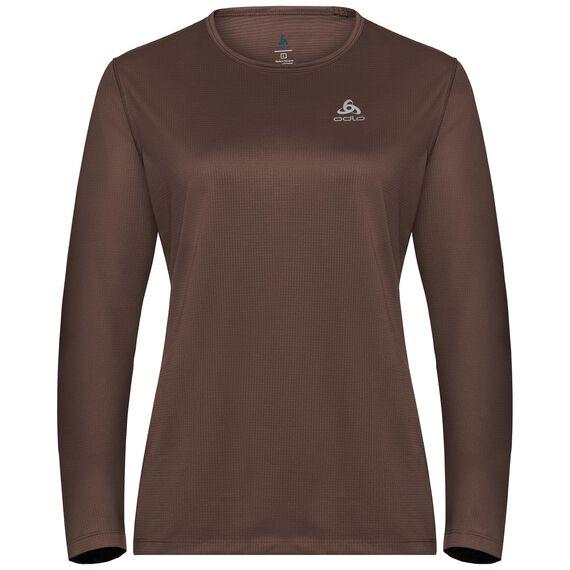 T-shirt l/s crew neck AMBER LO, chestnut, large