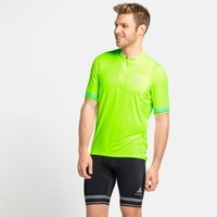 Men's ELEMENT Short-Sleeve 1/2 Zip Cycling Jersey, lounge lizard, large