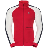 Midlayer full zip ODDVAR, chinese red - snow white, large