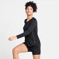 Maglia da corsa a manica lunga ZEROWEIGHT CHILL-TEC BLACKPACK da donna, black - blackpack, large