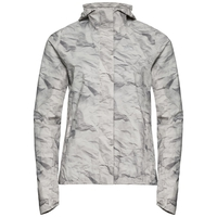FLI 2.5L Jacke, odlo silver grey - paper print, large