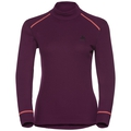 Women's ACTIVE WARM Turtle-Neck Long-Sleeve Base Layer Top, pickled beet, large