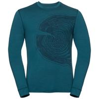 T-shirt a manica lunga ALLIANCE KINSHIP da uomo, blue coral - tree print FW18, large