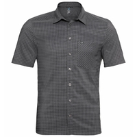 Men's NIKKO Short-Sleeve Shirt, odlo graphite grey - odlo concrete grey - check, large