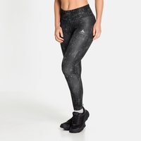 Women's ZEROWEIGHT PRINT REFLECTIVE Tights, black - reflective graphic FW20, large